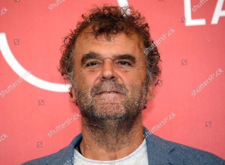 Italian actor Pippo Delbono poses during a photocall for 'A letter to a friend in Gaza and A tramway in Jerusalem' during the 75th annual Venice International Film Festival, in Venice, Italy, 03 September 2018. The movie is presented in out competition at the festival running from 29 August to 08 September 2018.