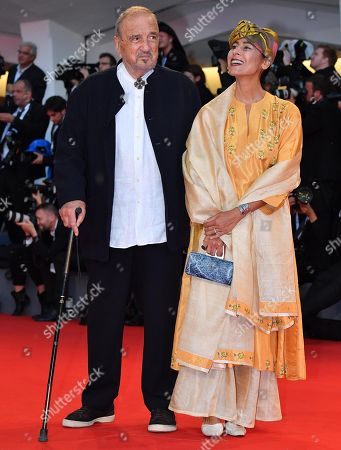 Jean-Claude Carriere and Nahal Tajadod arrive for the premiere of  'At Eternity's Gate' at the 75th annual Venice International Film Festival, in Venice, Italy, 03 September 2018. The movie is presented in official competition 'Venezia 75' at the festival running from 29 August to 08 September.