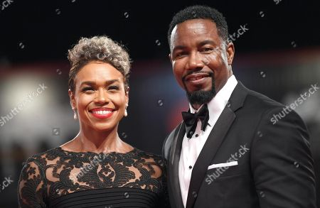 US actor Michael Jai White and Gillian Iliana Waters, arrive for the premiere of 'Dragged Across Concrete' during the 75th annual Venice International Film Festival, in Venice, Italy, 03 September 2018. The movie is presented in out competition at the festival running from 29 August to 08 September 2018.