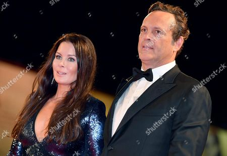 US actor Vince Vaughn with Kyla Weber (L) arrive for the premiere of  'Dragged Across Concrete' at the 75th annual Venice International Film Festival, in Venice, Italy, 03 September 2018. The movie is presented out of competition at the festival running from 29 August to 08 September.