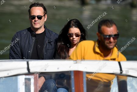 US actor Vince Vaughn (L) arrives with his wife Kyla Weber (C) at the Lido Beach for the 75th annual Venice International Film Festival, in Venice, Italy, 03 September 2018. The festival runs from 29 August to 08 September.