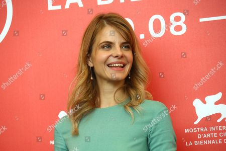 Actress Juli Jakab poses for photographers at the photo call for the film 'Sunset' at the 75th edition of the Venice Film Festival in Venice, Italy