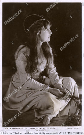 Miss Ellaline Terriss (1872-1971) - Popular English Actress and Singer As Cinderella - Promotional Card For Ivelcon. Foulsham & Banfield Photograph Reproduced On A Rotary Postcard