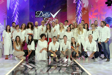Bianca Guaccero and the staff