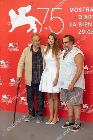Jean-Claude Carriere, screenwriter and film editor Louise Kugelberg and director Julian Schnabel