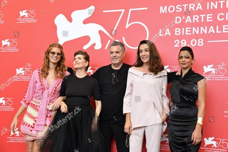 Editorial image of 'A Letter to a Friend in Gaza' photocall, 75th Venice International Film Festival, Italy - 03 Sep 2018