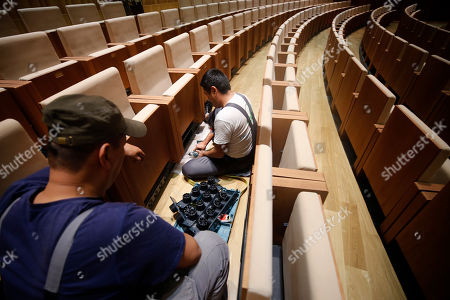 Editorial image of New Moscow Concert Hall 'Zaryadye', Russian Federation - 03 Sep 2018