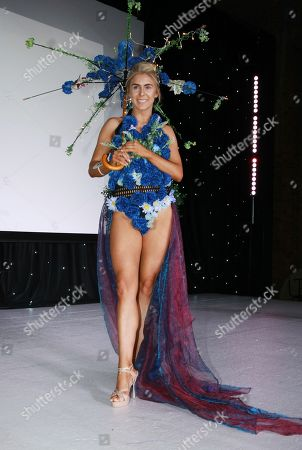 Stock Photo of #3 Alexandra Darby Miss Black Country 2018 picked in the Top 15 Eco Wear (ocean plastic rescue themed)