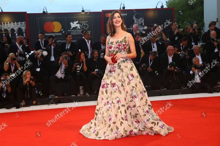 Clara Alonso poses for photographers at the premiere of the film 'At Eternity's Gate' at the 75th edition of the Venice Film Festival in Venice, Italy