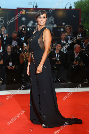 Roberta Giarrusso poses for photographers at the premiere of the film 'At Eternity's Gate' at the 75th edition of the Venice Film Festival in Venice, Italy