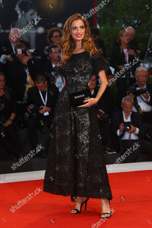 Gaia Bermani Amaral poses for photographers at the premiere of the film 'At Eternity's Gate' at the 75th edition of the Venice Film Festival in Venice, Italy