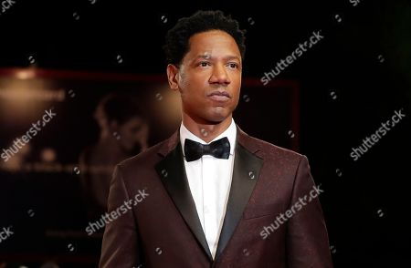 Actor Tory Kittles poses for photographers upon arrival at the premiere of the film 'Dragged Across Concrete' at the 75th edition of the Venice Film Festival in Venice, Italy