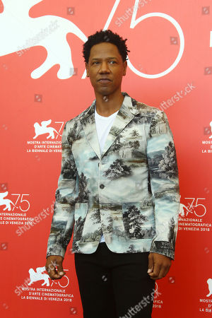 Tory Kittles poses for photographers at the photo call for the film 'Dragged Across Concrete' at the 75th edition of the Venice Film Festival in Venice, Italy