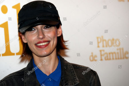 """Stock Picture of Singer of the Group Superbus, Jennifer Ayache attends a photo call for the premiere of """"Photo de Famille"""" in Paris"""