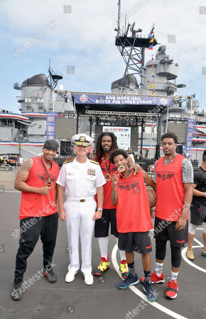Editorial photo of LA Fleet Week 5 on 5 basketball tournament, Los Angeles, USA - 02 Sep 2018