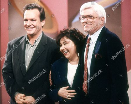 Tom Arnold and Roseanne Barr with Phil Donahue On the Phil Donahue Show in 1992