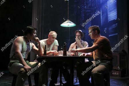 Luke Rutherford (Pablo), Elliot Cowan (Stanley Kowalski), Gary Milner (Steve Hubbel), Barnaby Kay (Mitch)