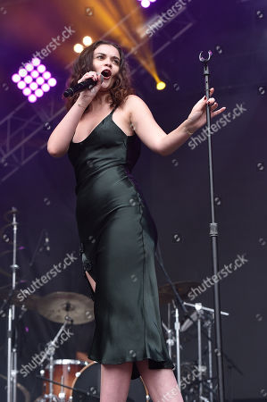 San Francisco Ca - August 12: Sabrina Claudio Performs During the 2018 Outside Lands Music and Arts Festival at Golden Gate Park On August 12 2018 in San Francisco California USA San Francisco