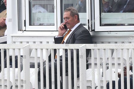 Stock Picture of Graham Gooch on the telephone during Essex CCC vs Surrey CCC, Specsavers County Championship Division 1 Cricket at The Cloudfm County Ground on 4th September 2018