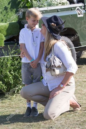 Penny Lancaster and son Aiden Stewart