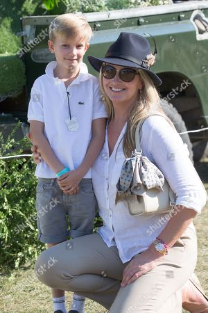 Stock Image of Penny Lancaster and son Aiden Stewart