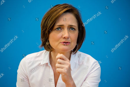 Simone Lange, Mayour of the city Flensburg, during the founding press conference of the movement 'Get Up' (Aufstehen) in Berlin, Germany, 04 September 2018. 'Get up' wants to collect supporters of different parties to a common movement and promote campaigns for left-wing political goals.