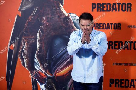 US film director Shane Black poses during the presentation of the film 'Predator' in Madrid, Spain, 04 September 2018. The film will be premiered in Spanish cinemas 14 September 2018.