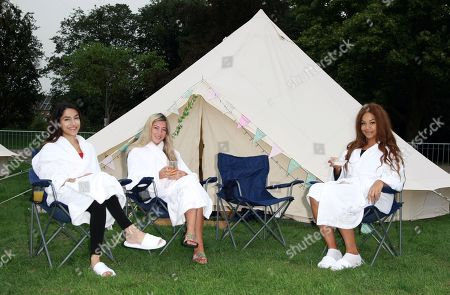 #7 Anusha Sareen Miss Middlesex 2018, #25 Jessica Rose Lidstone Miss Devon 2018, #21 Jade Rice Alor Miss SouthWest 2018 on the Bellows Glamping site