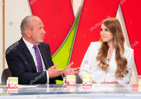 Stock Photo of Lord Alan Sugar and Alana Spencer