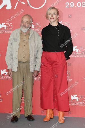 Mike Leigh and Maxine Peake