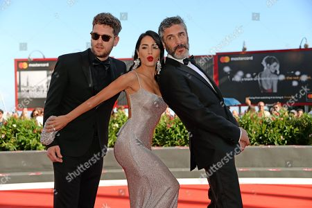 Stock Photo of Gonzalo Tobal, Lali Esposito and Leonardo Sbaraglia
