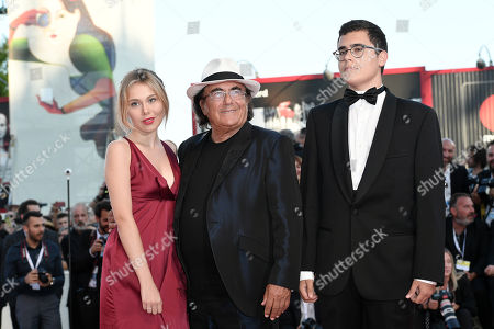 Al Bano Carrisi with his children Yasmine Carrisi and Albano Jr. Carrisi