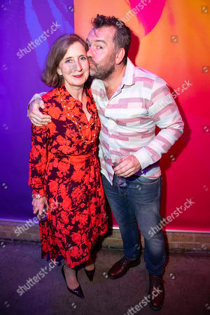 Stock Picture of Nancy Crane (Maeve) and Brendan Cowell (Dance Teacher)