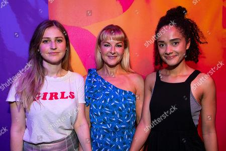Ria Zmitrowicz (Zuzu), Sarah Hadland (Sofia) and Karla Crome (Amina)