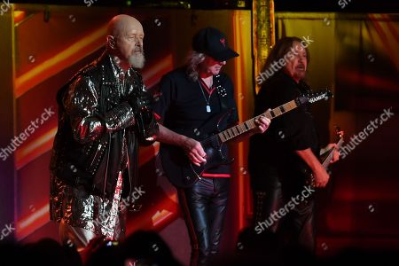 Editorial photo of Judas Priest in concert at the Jones Beach Theater, Wantagh, USA - 01 Sep 2018
