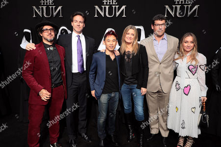 Corin Hardy, Director, Peter Safran, Producer, James Wan, Producer, Carolyn Blackwood, President and Chief Content Officer, New Line Cinema, Richard Brener, President and Chief Creative Officer, New Line Cinema, Blair Rich, President, Worldwide Marketing, Warner Bros. Pictures Group and Warner Bros. Home Entertainment,