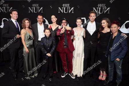 Peter Safran, Producer, Lili Bordan, Demian Bichir, August Maturo, Bonnie Aarons, Corin Hardy, Director, Taissa Farmiga, Jonas Bloquet, Ingrid Bisu, James Wan, Producer,