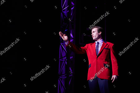 Thomas Maguire playing Bob Gaudio performs during a Jersey Boys Media Call at the Capitol Theatre in Sydney, Australia, 05 September 2018.