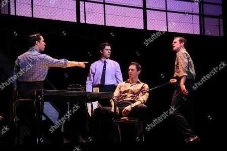 Stock Photo of The Four Seasons - Ryan Gonzalez (Frankie Valli), Cameron Macdonald (Tommy Devito), Thomas Mcguane (Bob Gaudio) and Glaston Toft (Nick Massi)
