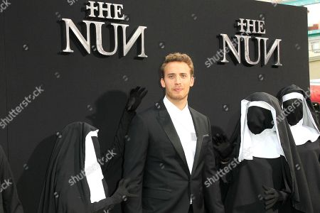 Stock Image of Belgian actor/cast member Jonas Bloquet arrives at the world premiere of 'The Nun' at the TCL Chinese Theatre IMAX in Los Angeles, California, USA, 04 September 2018. The movie opens in the USA on 07 September 2018.