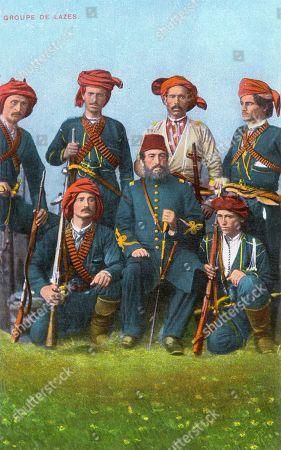 Scenes Armed Turkish Ottoman Empire Black Sea Coast Social Typology