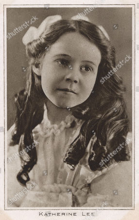 Katherine Lee Child Star Who Worked For the Fox Film Corporation and Also Performed in Vaudeville with Her Sister Jane. . Photograph On A Postcard