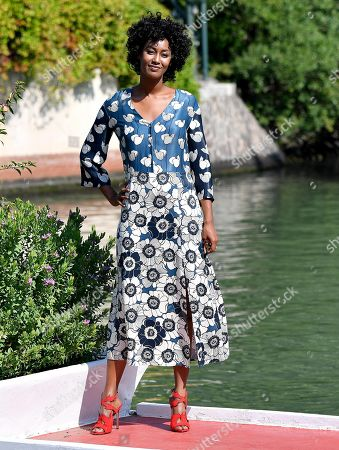 Ethiopian-Italian actress Tezeta Abraham arrives at the Lido Beach for the 75th annual Venice International Film Festival, in Venice, Italy, 05 September 2018. The festival runs from 29 August to 08 September.