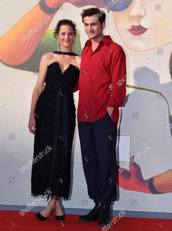Stock Photo of Luxembourgian actress Vicky Krieps (L) and German actor Samuel Schneider arrive for the premiere of the restored movie 'L'annee derniere a Marienbad' (Last Year at Marienbad) during the 75th annual Venice International Film Festival, in Venice, Italy, 05 September 2018. The festival runs from 29 August to 08 September 2018.