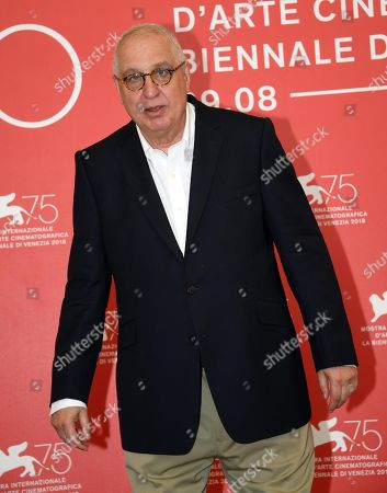 US filmmaker Errol Morris poses during a photocall for 'American Dharma' during the 75th annual Venice International Film Festival, in Venice, Italy, 05 September 2018. The movie is presented in out competition at the festival running from 29 August to 08 September 2018.