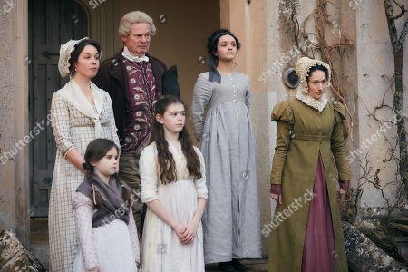 Martin Clunes as Sir Pitt, Olivia Cooke as Becky Sharp, Mathew Baynton as Bute Crawley plus supporting cast.