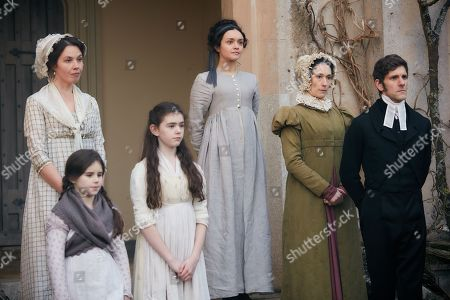 Olivia Cooke as Becky Sharp, Sian Clifford as Martha Crawley and Mathew Baynton as Bute Crawley plus supporting cast.