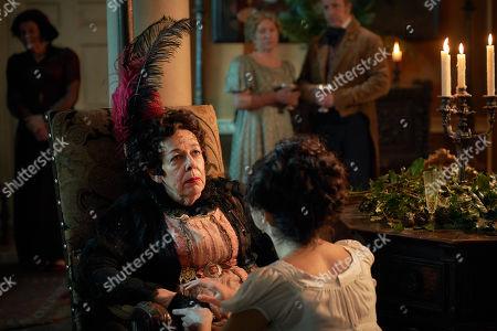 Frances de la Tour as Lady Matilda Cawley.