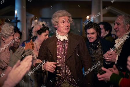 Tom Bateman as Rawdon Crawley, Charlie Rowe as George Osbourne, Olivia Cooke as Becky Sharpe, Johnny Flynn as William Dobbin and Claudia Jessie as Amelia Sedley.