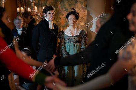 Mathew Baynton as Bute Crawley and Sian Clifford as Martha Crawley.